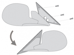 Suitable for HONDA CIVIC VI (EM) 02/01+ 3d_adapterplates - A231