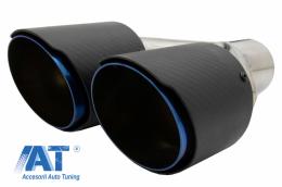 Toba Ornament Sistem de evacuare Carbon Fiber Mat Finisaj Albastru Editie Limitata 6.3cm - KLT078