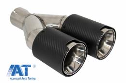 Toba Ornament Sistem de evacuare Carbon Fiber Finisaj Mat 6cm/2.36inch - KLT075L