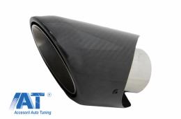 Toba Ornament Sistem de evacuare Carbon Fiber Finisaj Lucios Inlet 6.2cm - KLT072