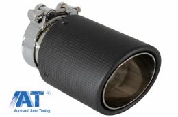 Toba Universala Ornament Sistem de evacuare Carbon Fiber Finisaj Mat - GJET-021