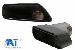 Tobe Ornamente compatibil cu BMW Seria 5 G30 G31 (2017-up) F10 F11 (2010-2014) F10 F11 LCI (2015-2017) Seria 6 G32 (2017-up) M-Tech Sport Design Negru - TY-BM530B