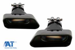 Tobe Ornamente compatibil cu sistemul de evacuare BMW 5 Series F10 F11 F18 V8 LCI Design BLACK - TY-D047B