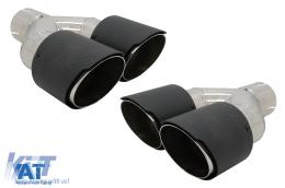 Tobe Ornamente Sistem de evacuare Carbon Fiber Finisaj Lucios 6.1cm - KLT074