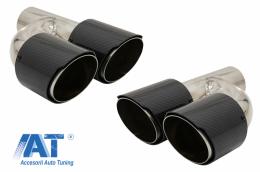 Tobe Ornamente Sistem de evacuare Carbon Fiber Finisaj Lucios 6.3cm - KLT079